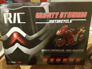 R/C Gravity Steering Motorcycle brand new in box.