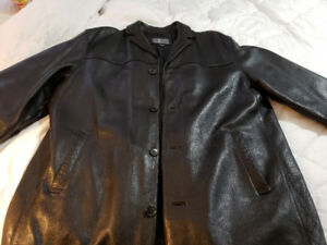 Men's Dockers 3/4 length leather jacket XL.