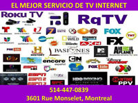 ROKU TV - CHAÎNES LATINES - SANS CONTRAT