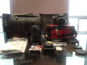 Canon EOS Rebel XSi Camera with 2 lenses