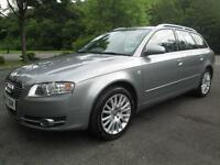 07/07 AUDI A4 AVANT 2.0 TDI SE 170BHP IN MET GREY WITH SERVICE HISTORY