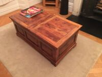 Dark wooden coffee table. £50.