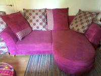 Pink corner sofa for sale