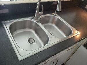 stainless twin kitchen sink