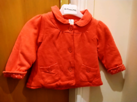 Baby Girls Coral Jacket / Coat 6-9 Months