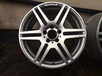 Set of 18 Inch original Mercedes AMG sport alloy wheels
