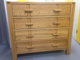 Solid oak John Lewis chest of drawers ( Monterey range ) sideboard furniture Sutton sm3