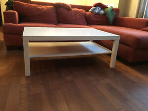 White, durable coffee table