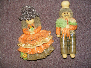 Vintage Ornament Dough - Grandma and Grandpa - Early 1960's