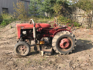 Tractor With Lawn Mower Deck