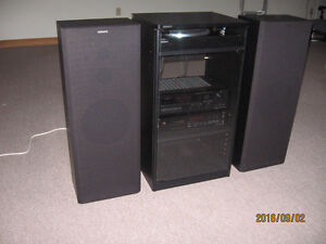 Sony stereo system, turntable, audio cabinet