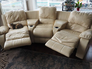 Leather Sofa with reclining seats