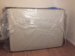 Brand New Queen-sized Box-Spring and Mattress (Never Used)