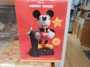 Vintage Disney Mickey Mouse talking mobile phone (unopened)
