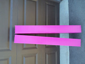Set of 2 hot pink coloured tall cardboard boxes Brand new London Ontario image 1