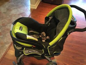 Chicco Cortina SE Travel System + 3 Car Bases