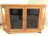 Buhler Corner Oak Entertainment Center