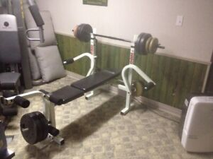 Incline Bench with Weights