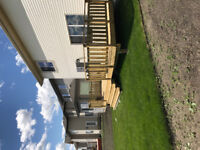 Post holes fence decks great deals this time year