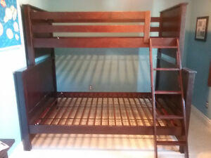 Solid Wood Twin over Double Bunk (Expresso)