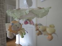 Pale colored/zoo animal mobile - Like New