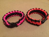 Paracord bracelets and lanyards