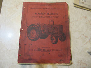 Massey Harris 55, 55K Tractor Operator manual