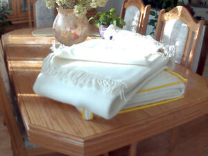 100% Baby    Sheep    Wool Cashmere Blanket throw over
