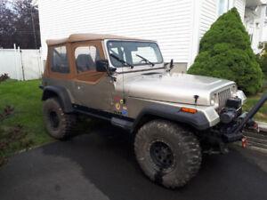 Jeep YJ / TJ  / Wrangler 1995 Sahara - 4L 6 en ligne - Manuelle