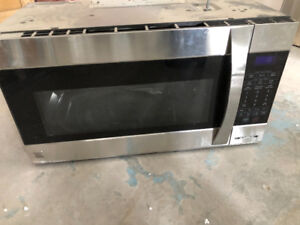 Stainless steel mountable microwave.