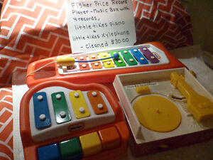Fisher Price Record Player & Little Tikes Musical Toys