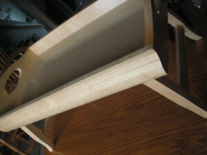 Foldable Breakfast Table and Serving Tray Made with wood