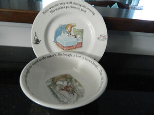 1980s PETER RABBIT plate and bowl set