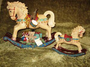 Festive Xmas Rocking Horses