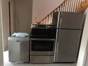 2016 Stainless Steel Perfect Condition Appliance Set For Sale