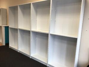 White Bookcase Shelving Unit