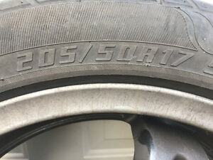 4 GOODRIDE summer tires with Black Rims West Island Greater Montréal image 2