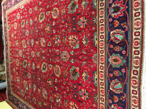 Tabriz hand made from persian 100%wool  size 9.10x12.10 $1350