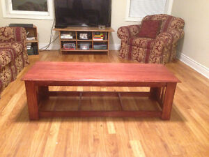 Real wood, hand-crafted coffee table