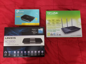 Wireless Routers and Gigabit Network Switch