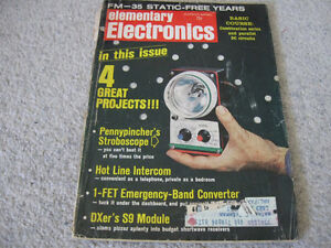 2 Elementary Electronics March/April & May/June 1970 -$10 lot