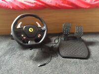 Thrustmaster Ferrari 458 RW steering wheel and pedals for Xbox 360