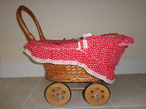 Vintage Wicker Doll Stroller Kitchener / Waterloo Kitchener Area image 3