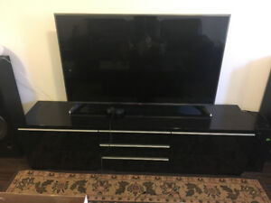 IKEA BLACK TV STAND - EXCELLENT CONDITION - TV ALSO FOR SALE