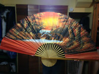 HAND PAINTED THAI DECORATIVE FAN Watch|Share |Print|Report Ad