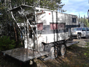 17 ft tandem axle trailer and camper