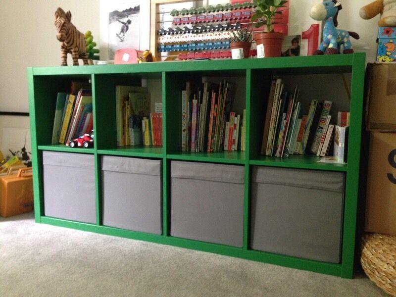 IKEA green Kallax shelves bookcase storage being  : 86 from www.gumtree.com size 800 x 600 jpeg 72kB