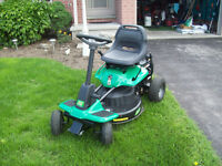 "weedeater ""1"" riding lawnmower"