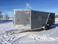 7x23 Snowmobile All Aluminum Drive In and Out