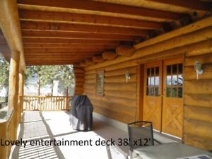 Log Home on 1.2 acres in the Okanagan No Speculation Tax